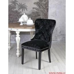 Jídelní židle v černé barvě
