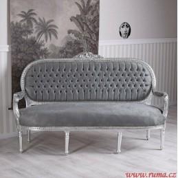 Elegantní pohovka v šedé barvě