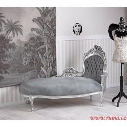 Luxusní lenoška v šedé barvě
