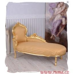 Elegantní lenoška v zlaté...