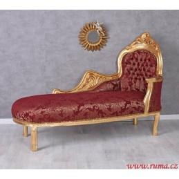 Luxusní lenoška v červené...