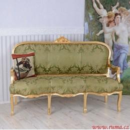 Elegantní pohovka v zelené...