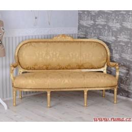 Elegantní pohovka v žluté...