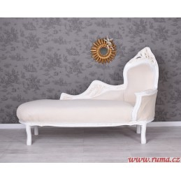 Luxusní lenoška v bílé barvě