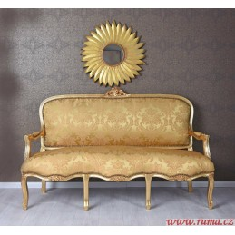 Elegantní pohovka  v zlaté...