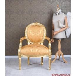 Luxusní židle v zlaté barvě