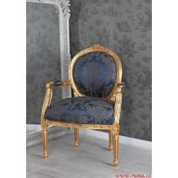 Luxusní židle v modré barvě