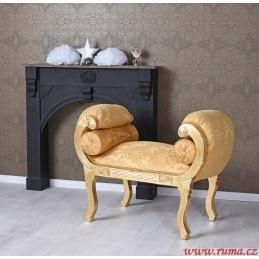 Luxusní lavice v zlaté barvě