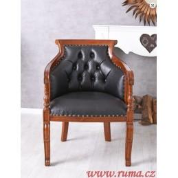 Stylová dřevěná židle