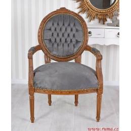Židle v šede barvě