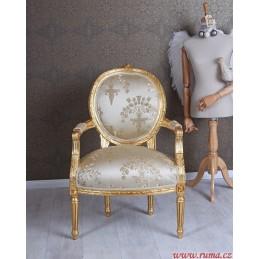 Luxusní židle v béžové barvě