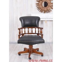 Dřevěné stylové otočné křeslo