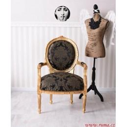 Luxusní židle v černé barvě