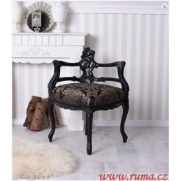 Rohová židle v černé barvě