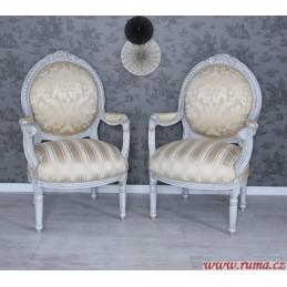 Židle s područkami v béžové...