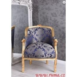 Elegantní křeslo v modré barvě