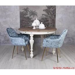 Retro židle v modré barvě