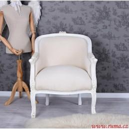 Elegantní křeslo v béžove...