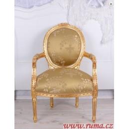 Židle v zlaté barvě