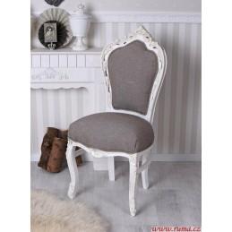 Elegantní  židle v šedé barvě