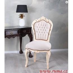 Elegantní židle v bílé barvě
