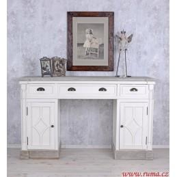 Pracovní stůl v bílé barvě