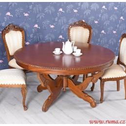 Dřevěný kulatý jídelní stůl