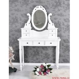 Bílý luxusní toaletní stolek