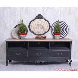 Černý televizní stolek