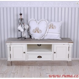 Bílý televizní stolek