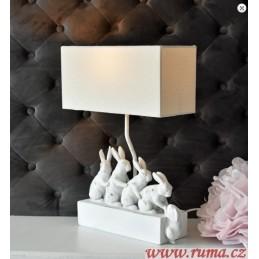 Stolní lampa Rodina králíků