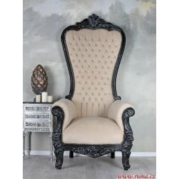 Luxusní křeslo v bílé barvě