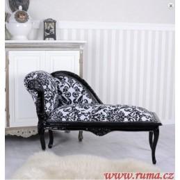 Elegantní lenoška v černé barvě