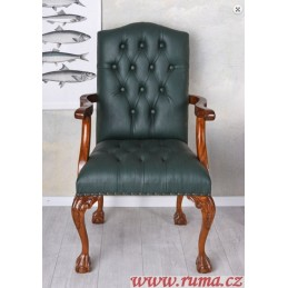 Stylová židle v zelené barvě