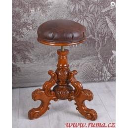 Otočná dřevěná klavírní židle