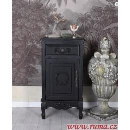 Černý noční stolek