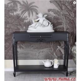 Černý odkládací stolek