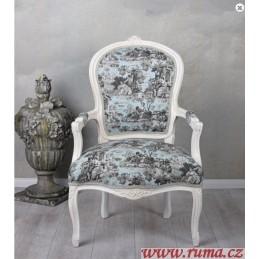 Židle v designu Toile de Jouy