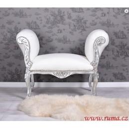 Elegantní lavice v bilé barvě
