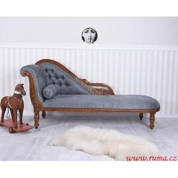 Elegantní lenoška v šedé barvě