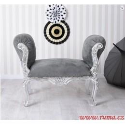 Elegantní  lavice v šedé barvě