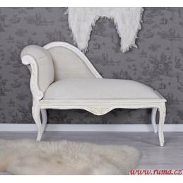 Stylová lenoška v bílé barvě