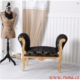 Elegantní  lavice v černé...